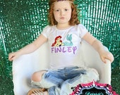Personalized mermaid shirt - custom made shirt - vinyl shirt - toddler shirt - custom vinyl tee - Little Mermaid - Princess Ariel