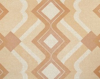 Retro Wallpaper by the Yard 70s Vintage Wallpaper - 1970s Brown and Cream Mod Geometric