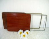 Reserved for Carol H - 1 Vintage Durham Handy Table - Space Saving Folding Metal TV Tray Table - MidCentury 1 Occasional Table