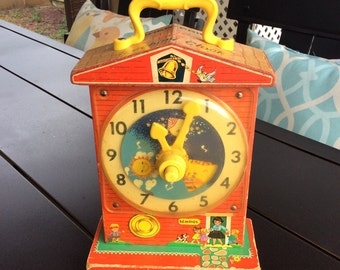 Fisher Price Teaching clock Music Box