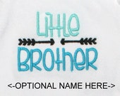 Little Brother Shirt/Custom Embroidered T shirt/Sibling Shirt/Personalized T shirt/Made to Order/Baby Gown/Baby Romper/Baby Onesie