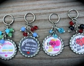 SET OF FOUR - Personalized Teacher Keychains - Teacher Appreciation - Inspire - Education - End Of School - Teacher Gift - School - Mentor -