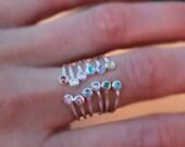 DOUBLE BIRTHSTONE RING - dual birthstone ring - birthstone ring - mother's ring - adjustable birthstone ring - adjustable ring - rings