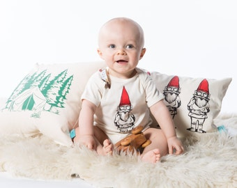 Garden Gnome Baby One Piece - Screen Printed Baby Clothing - Infant One Piece - Baby Bodysuit