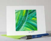 Forest Green Watercolor Art Notecard // Original Art