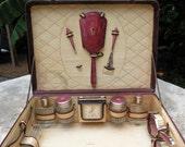 1920s Guilloche Vanity Travel Kit