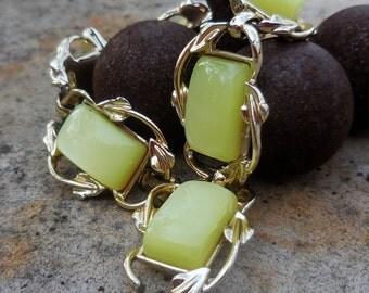 Lovely Lemon Moonglow - SIGNED Vintage CORO Bracelet