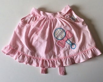 1980's Rattle Open Back Ruffle Top (6/9 months)