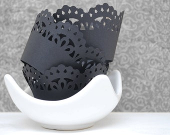 Gothic Steampunk Cupcake Wrappers In Your Choice of Color Qty 12