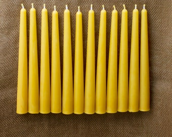 "8"" 100% Pure Beeswax Tapers (set of 12)"
