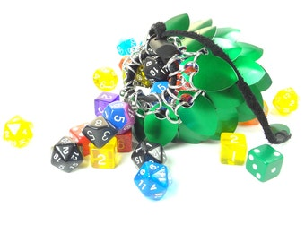 Dungeons & Dragons Medium Green Dice Bag Scalemaille And Chainmaille Aluminum - SKDB-SC-M-GR