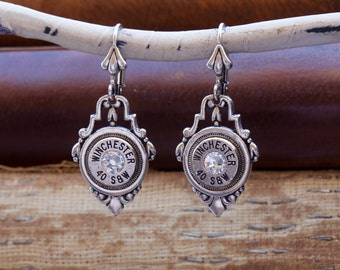 Choice 40 SW Bullet Earrings- Winchester 40 SW Bullet Earrings-Federal 40 S W Dangle Earrings-Hornady 40 S W-Remington 40 SW Drop Earrings
