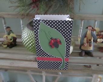 Ladybug Favor Bags Set of 12