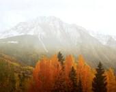 Mountain Photography Print Fine Art Colorado San Juan Mountains Aspen Trees Autumn Landscape Photography Print.