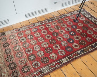 DISCOUNTED 3x5.5 Vintage Oushak Rug