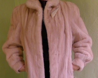 Luxurious and so Soft 1980s Full Length Blonde Mink Coat by May Company--M