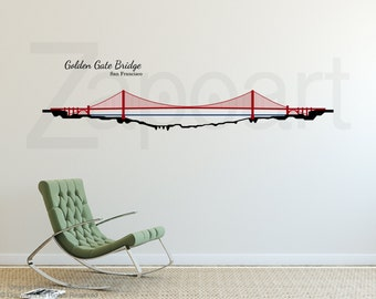 Wall decal Golden Gate Bridge San Francisco Wall Art