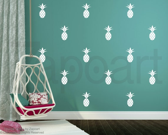 Wall Decor Home Party : Pineapple wall decal home decor party nursery