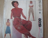 McCALL'S Pattern 8019 Misses' Knickers, Zouave and Harem Pants    1982     Uncut