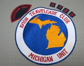 Vintage Avion trailer Travelcade club patches trailer camper not airstream aluminum