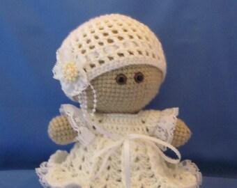 Custom order. Crochet Bride Amigurumi Baby Doll  Super cute, Wedding couple, Cuddly Baby Doll, Soft Toy, Waldorf Doll, Stuffed Doll,Rag Doll