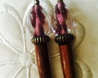 Vintage - Hair Jewelry - Wooden Hair Stick - Hair Pick - Hair Accessories - BoHo Chic