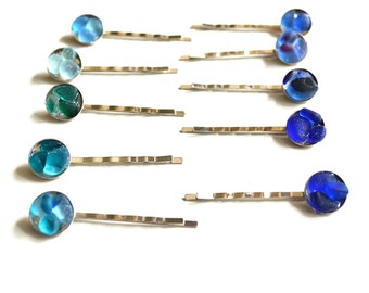 Genuine Sea Glass Hair Bobby Pins Mix and Match