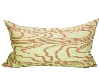 Agate lumbar pillow cover in Salmon/Linen