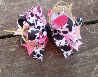 cowgirl hair bow-cowboy hair bow