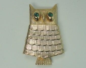AVON Owl Solid Perfume Brooch / Pin