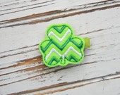Chevron St. Patrick's Day Hair Clip - St. Patrick's Day Clippie