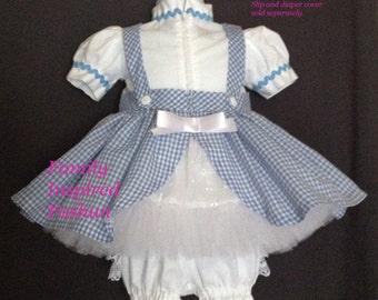 Dorothy costume sizes NB-18 mos