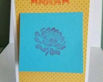 Handmade Mother's Day Card, keepsake card, flower card, for mom