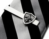 Fleur de Lis Tie Clip - Tie Bar - Tie Clasp - Business Gift - Handmade - Gift Box Included