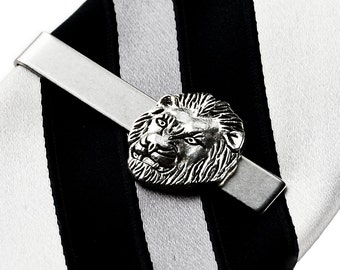 Lion Tie Clip - Tie Bar - Tie Clasp - Business Gift - Handmade - Gift Box Included