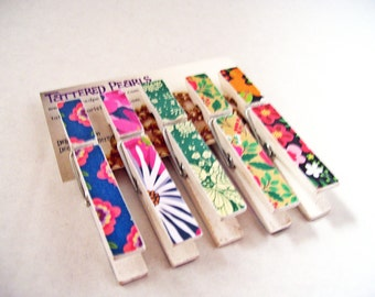 Clothespins From The Garden Decoupaged