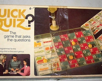 "Vintage ""Quick Quiz"" Game by SandR Games"