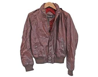 Vintage Leather Jacket Womens Ladies Members Only - UK 12 (24816)
