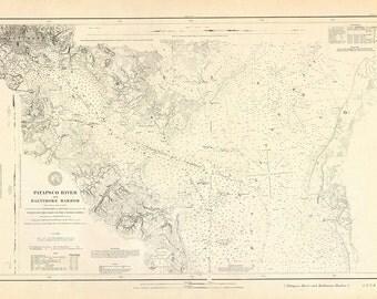 Patapsco River and Baltimore Harbor – 1880