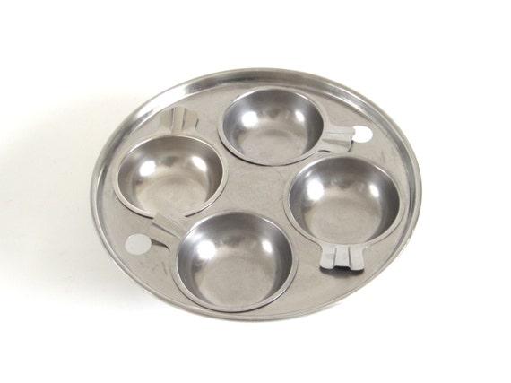 """Revere Ware Egg Poacher Insert 4 Cups for 8"""" skillet, frying pan, or saucepan"""
