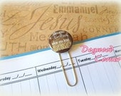 Brown Camo Flatback Button Bookmark - Who Needs Bling Planner Clip - Paper Clip.