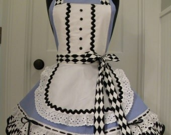 Womens Apron-Alice in Wonderland Costume Flounce Apron