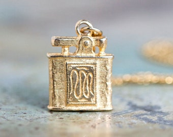Tiny Lighter Necklace - Miniature Pendant on Chain