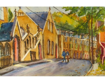 Race Street in Jim Thorpe, PA - an Original Watercolor