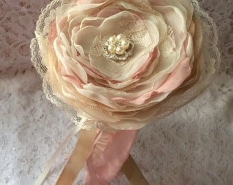 Flower Girl Wand, Bridal Wand, Bridesmaid Wand, Wedding Flower Girl Wand, Vintage Pink Wand,Ivory Wand, Lace Wand, Your Choice Color