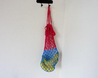Reusable market bag crochet grocery bag