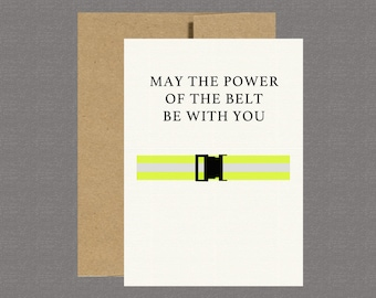 Military Greeting Card - Power of the Belt - Care Package, Boot Camp, Basic Training, Deployment, Military Card