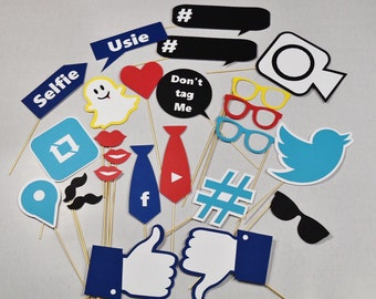 Social media photo booth party props!