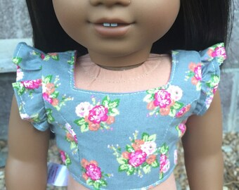 American girl doll floral crop top