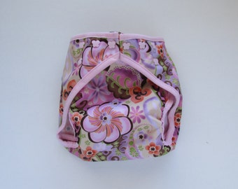 Pink Majik Diaper Cover with Leg Gussets